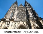 gothic architecture of front... | Shutterstock . vector #796654606