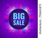 big sale concept fantasy violet ... | Shutterstock .eps vector #796661872
