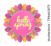hello spring concept banner... | Shutterstock .eps vector #796661875