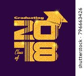 graduation label. vector text... | Shutterstock .eps vector #796663426