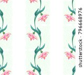 seamless vector background.... | Shutterstock .eps vector #796668976