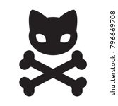 cat skull icon cross bone... | Shutterstock .eps vector #796669708