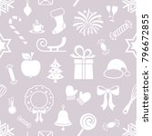 cute christmas vector seamless... | Shutterstock .eps vector #796672855