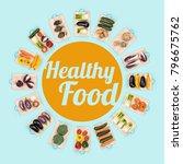 fresh healthy vegetables... | Shutterstock . vector #796675762