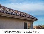 terracotta roof blue sky...   Shutterstock . vector #796677412