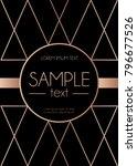 geometric rose gold design... | Shutterstock .eps vector #796677526