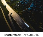 drone aerial view of road with...   Shutterstock . vector #796681846