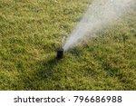 water sprinkler irrigation...   Shutterstock . vector #796686988