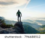 photographer with camera in... | Shutterstock . vector #796688512