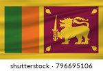 sri lanka national flag | Shutterstock .eps vector #796695106