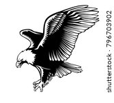 eagle emblem isolated on white... | Shutterstock . vector #796703902