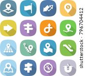 flat vector icon set   pointer... | Shutterstock .eps vector #796704412