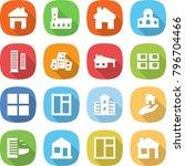 flat vector icon set   home... | Shutterstock .eps vector #796704466