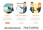 flat page interface web design...   Shutterstock .eps vector #796710952