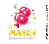 greeting card for international ...   Shutterstock .eps vector #796715896