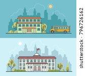 flat school university... | Shutterstock .eps vector #796726162