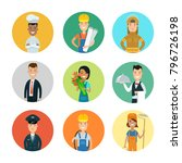 flat style professional people... | Shutterstock .eps vector #796726198