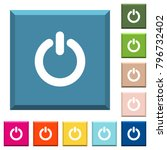 power switch white icons on... | Shutterstock .eps vector #796732402