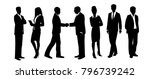 business characters. working... | Shutterstock .eps vector #796739242