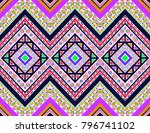 ikat geometric folklore...   Shutterstock .eps vector #796741102