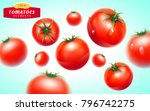 Tomato Set. Detailed Realistic...