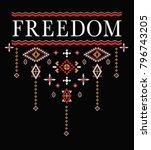 ethnic slogan graphic | Shutterstock .eps vector #796743205