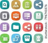 flat vector icon set   search... | Shutterstock .eps vector #796743376