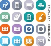flat vector icon set   greate... | Shutterstock .eps vector #796743436