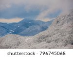 winter sunset in the mountains | Shutterstock . vector #796745068