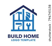 build home logo for your... | Shutterstock .eps vector #796745158