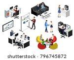 isometric 3d illustration... | Shutterstock . vector #796745872