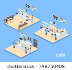 isometric 3d illustration... | Shutterstock . vector #796750408