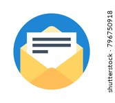 email icon flat modern vector... | Shutterstock .eps vector #796750918