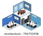 isometric 3d illustration set... | Shutterstock . vector #796752958
