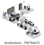 isometric 3d illustration set... | Shutterstock . vector #796756672