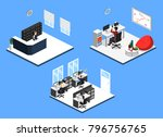 isometric 3d illustration set... | Shutterstock . vector #796756765