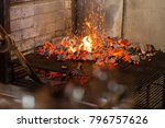 typical argentinian barbecue or ... | Shutterstock . vector #796757626