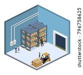 isometric 3d illustration...   Shutterstock . vector #796758625