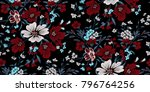 seamless floral pattern in... | Shutterstock .eps vector #796764256