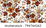 seamless floral pattern in... | Shutterstock .eps vector #796764262