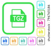 tgz file format vivid colored... | Shutterstock .eps vector #796765186