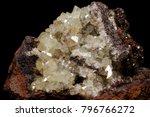 Small photo of Nice isolated Shiny Adamite Crystals in matrix from Mina Ojuela, Mapimi, Durango, Mexico