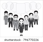 chibi style illustrations of a... | Shutterstock .eps vector #796770226
