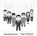 chibi style illustrations of a... | Shutterstock .eps vector #796770232