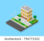 picture of appartent house with ... | Shutterstock .eps vector #796771522