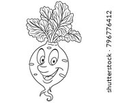 coloring page. coloring book.... | Shutterstock .eps vector #796776412