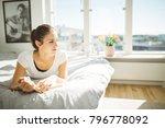 beautiful smilling woman... | Shutterstock . vector #796778092