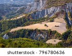 aerial view of wheatfields and... | Shutterstock . vector #796780636