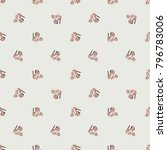 fashion pattern with pink nude... | Shutterstock .eps vector #796783006