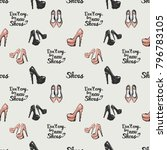 pattern with fashion... | Shutterstock .eps vector #796783105